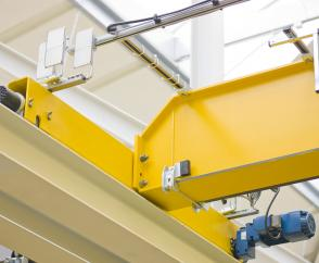 Offset geared motors used in travel units for Demag travelling cranes