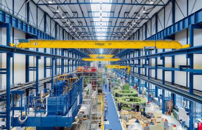 EKKE single-girder overhead traveling cranes