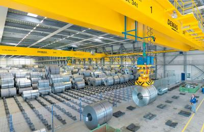 Process cranes for steel handling